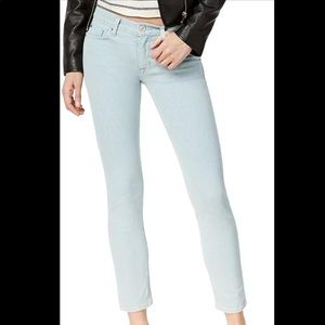 Hudson Pale Blue/Green Tally Mid-rise crop jeans